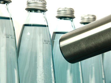 Leibinger: Glass Water Bottle