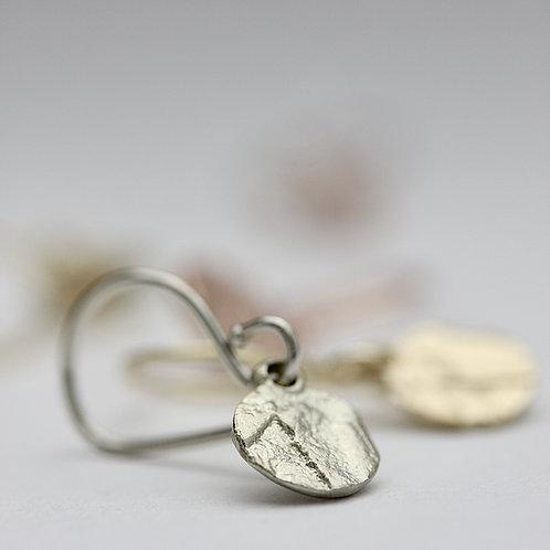 Old world medallion earrings