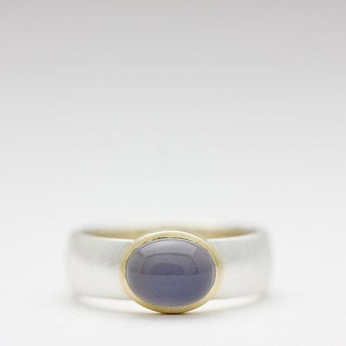 Genuine chalcedony ring