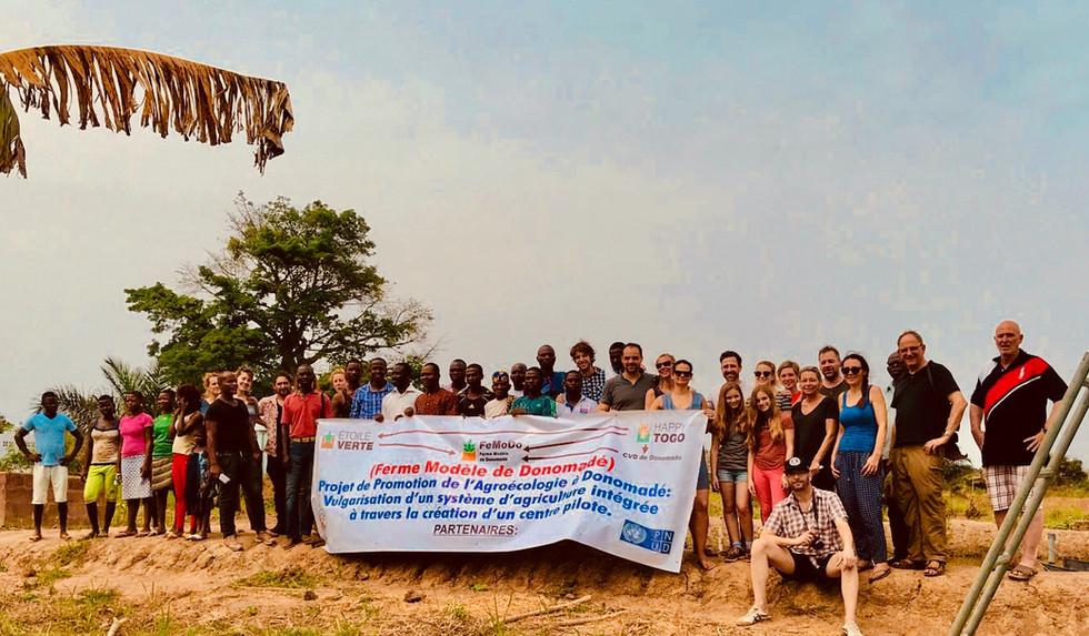 Visite des Membres de l'Association Glück für Togo en Fevrier 2018.