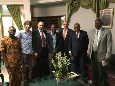 Un accord avec le Ministre de l'environnement du Togo