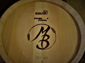 Barrel with logo