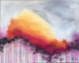 abstract painting that resembles the sun