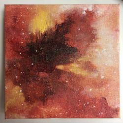 "Untitled Spacial. 8x8x1.5"" Acrylic."