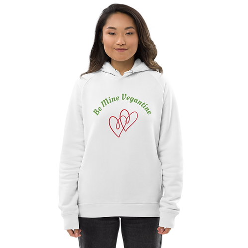 Vegantines Day Unisex Cotton Pullover White