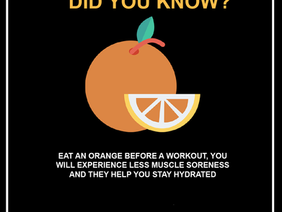 Eating a slice of orange before a workout