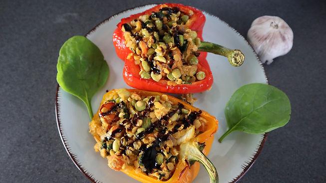 Stuffed Vegan Bell Peppers