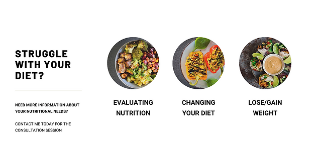 Green Bold & Modern Dietician Health Web