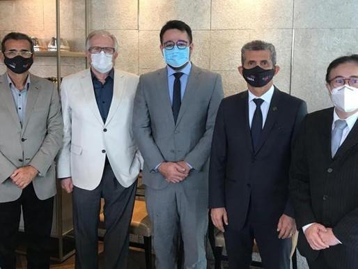 Paulo Maia e Harrison Targino lançam candidatura de Rodrigo Rabello a presidente da OAB de CG