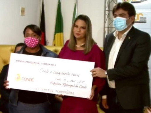 Prefeitura paga auxílio financeiro a ambulantes das praias de Conde nesta sexta