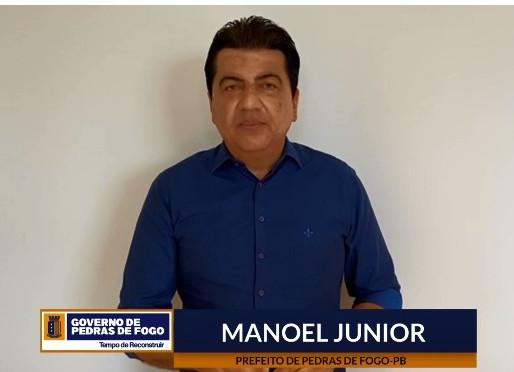 Em live, Manoel Junior fará balanço dos primeiros 100 dias de gestão na prefeitura de Pedras de Fogo