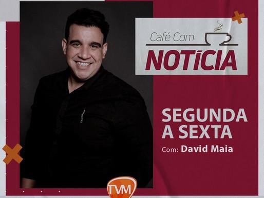 VOLTOU PARA AS TELINHAS: Jornalista David Maia assume o Programa Café com Notícia da Tv Master