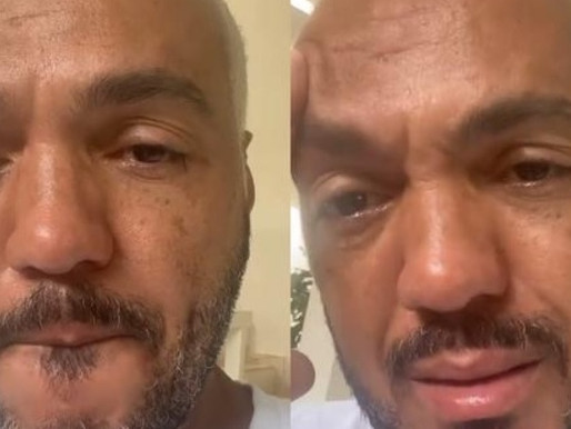 Belo grava vídeo aos prantos após deixar prisão e diz: 'Deus é maior'