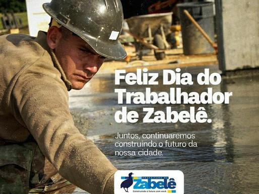 Prefeito de Zabelê presta homenagem aos trabalhadores do município