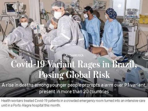 'Ameaça à saúde pública global': recorde de mortes e colapso dos hospitais são destaque no exterior
