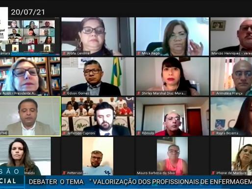 Audiência Pública reúne representantes da Enfermagem para discutir valorização profissional