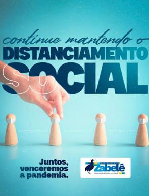 Prefeitura de Zabelê lança campanha reforçando a importância do distanciamento social