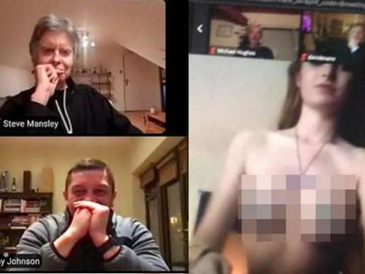 Reunião virtual de clube inglês é 'invadida' por vídeo pornô