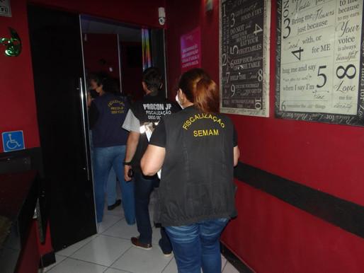 Prefeitura de João Pessoa intensifica fiscalização em comércio, bares e restaurantes