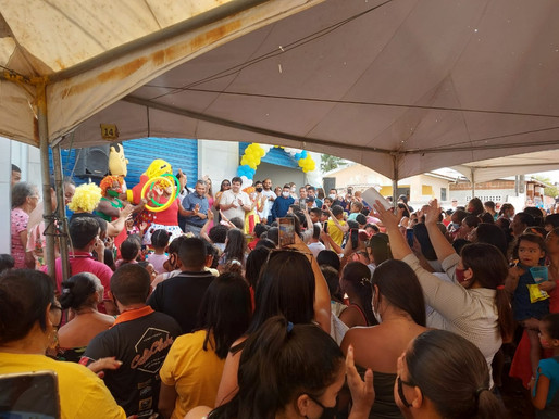 Karla Pimentel realiza maior festa das Crianças da história de Conde