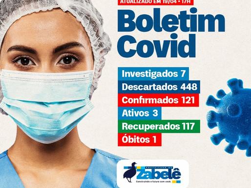 Município de Zabelê confirma liberação de 04 pacientes que se encontravam em isolamento domiciliar
