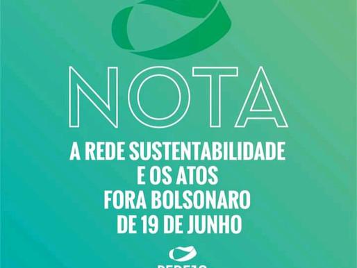 Rede Sustentabilidade e os atos fora Bolsonaro de 19 de junho