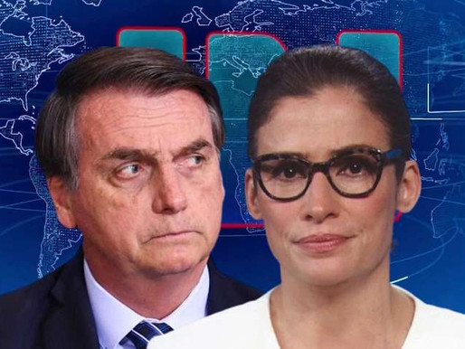 Dois ataques e um afago de Bolsonaro a Renata Vasconcellos