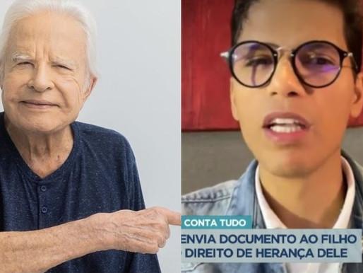 'Foi um engano te adotar', diz Cid Moreira em mensagem para o filho 'deserdado'
