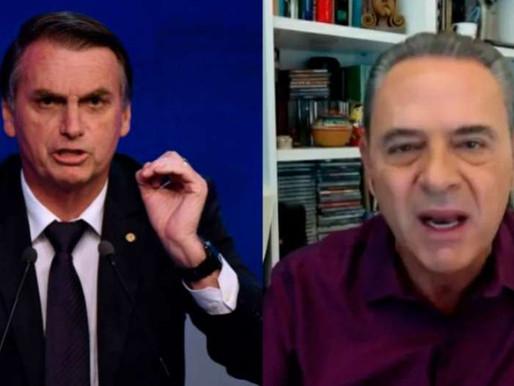 """Bolsonaro ofende Luís Roberto: """"Só faltou abaixar as calças"""""""