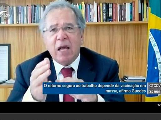 Guedes não descarta auxílio de R$ 600, mas pede venda de empresas públicas