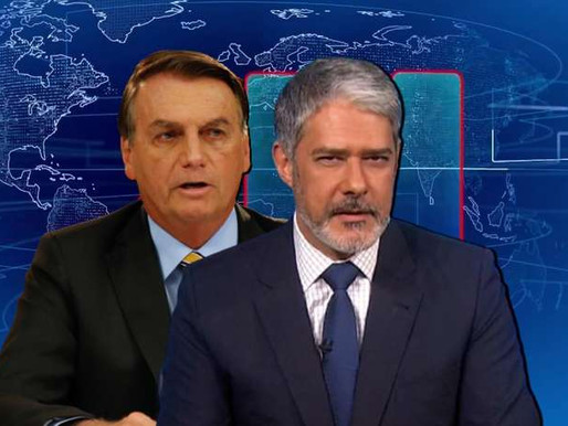 """""""Me bota no JN"""", provocou Bolsonaro; Bonner disse """"não"""""""