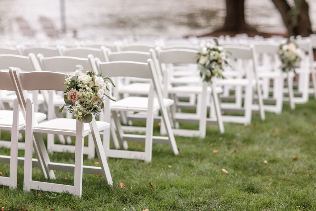 Wedding aisle floral decor