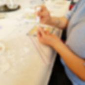 Mosaic workshop gluing your piece.jpg