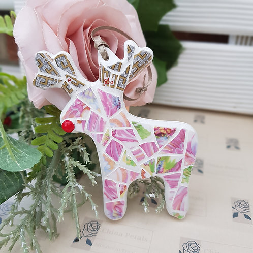 Rudolph Mosaic Decoration in Pinks