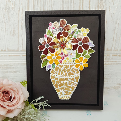 Vase of Flowers - Mosaic Wall Art