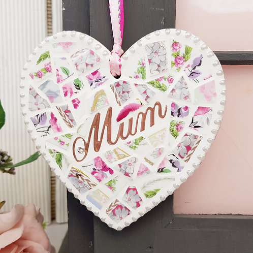 Love Mum Hanging Heart