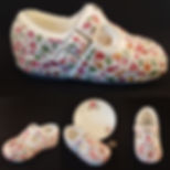 Unique baby gift, mosaic shoe by China Petals