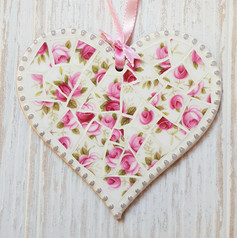 Pretty pink hanging Heart