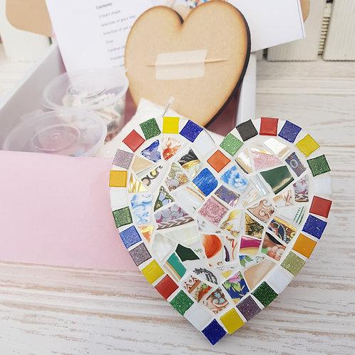 China Mosaic Coaster Kit - Heart or Square