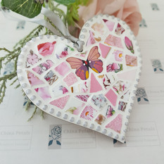 Pink Butterfly Heart by China Petals