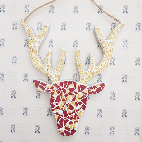 Rudolph Stag Head Reds, Yellow and Gold