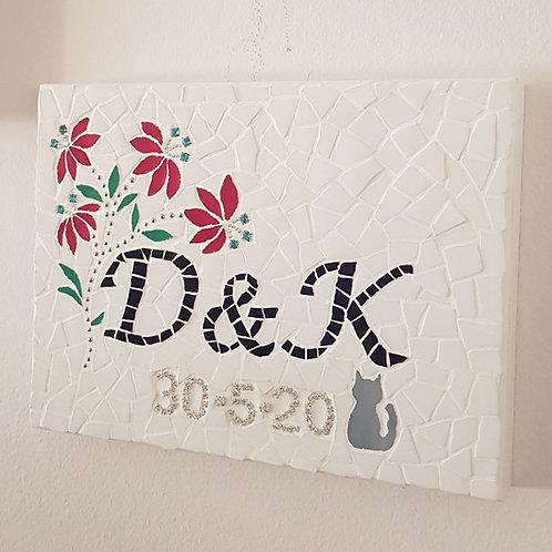 Personalised Wedding Gift - fine china mosaic