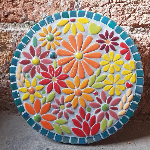 Autumn Fantasy Flower Garden Mosaic (22 cm)