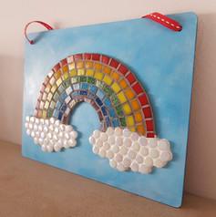 Mosaic tile rainbow