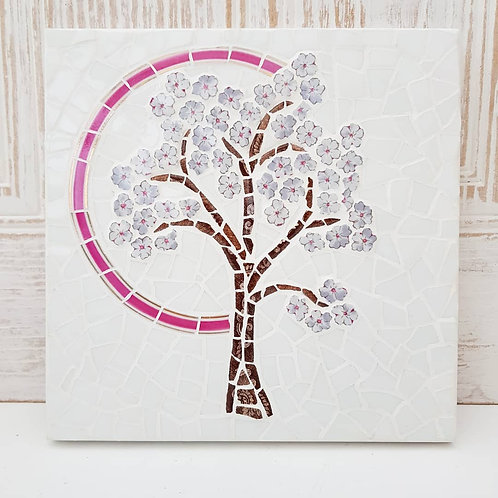 Blossom Tree - a fine china mosaic