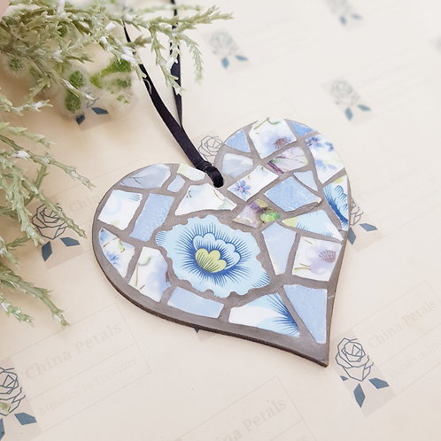 Mini True Blue Flower China Mosaic