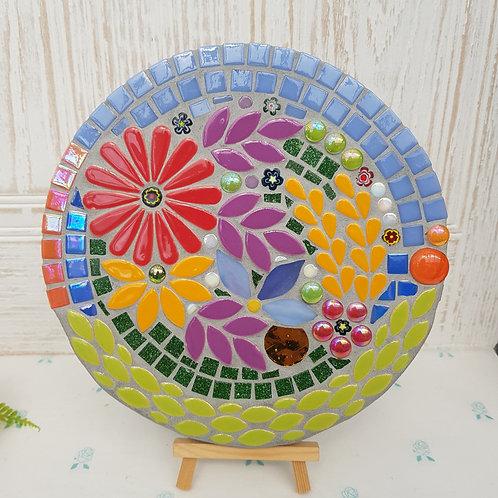 Floral Garden Mosaic - Indoor/Outdoor Art