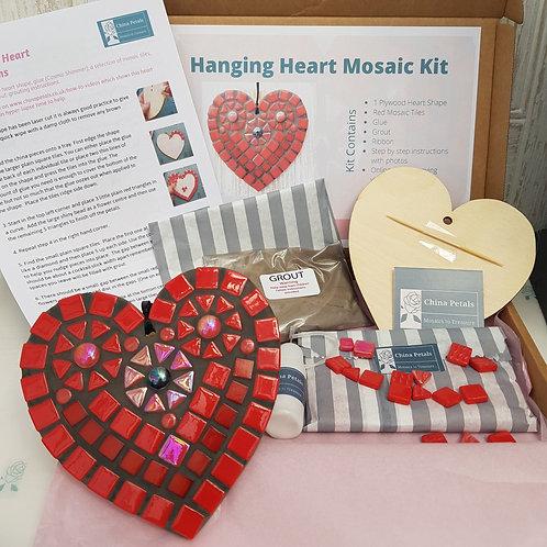Red Mosaic Hanging Heart Kit