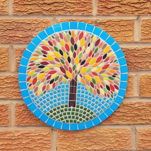 Outdoor Autumn Tree Mosaic