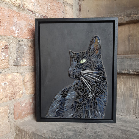 Pet Portrait Commission in stained glass